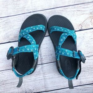 Chacos Kids Teal Pattern
